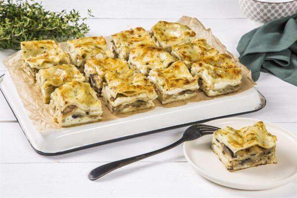 מגשי אירוח - לזניית גבינות וחצילים